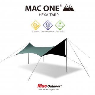 【予約商品4月中旬お渡し予定】MAC-ONE ヘキサタープ  オリーブ - Mサイズ