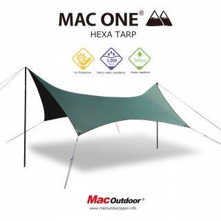 【予約商品4月中旬お渡し予定】MAC-ONE ヘキサタープ  オリーブ - Lサイズ