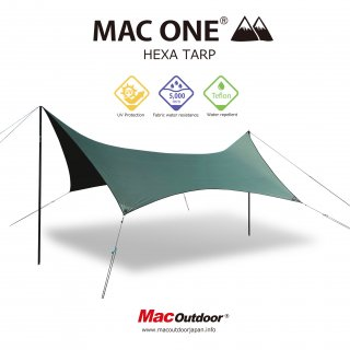 MAC-ONE ヘキサタープ  オリーブ - Lサイズ