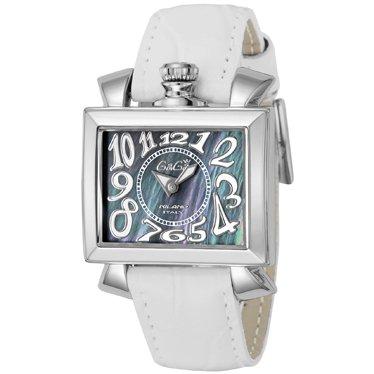 best service 351f8 f754e GaGa MILANO ガガミラノ NAPOLEONE ナポレオン シェル文字盤 レディース スクエア 腕時計 6030.4