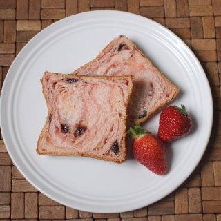 【苺感たっぷりフルーツのデニッシュ】スイーツ デニッシュ 苺 1斤(果肉が入った爽やかな甘さのデニッシュ 食パン)