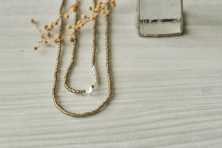necklace 「loop+star-black diamond/crystal-」