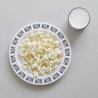 Buddy and Bear / HOHOHO - Plastic plate / Black