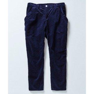 【40%OFF!】cokitica [コキチカ] / sarrouel velveteen u pants [サルエルベルベットパンツ レディースサイズ] / navy stripe