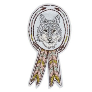 Coral&Tusk / wolf badge ブローチ