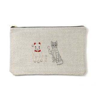 Coral&Tusk /lucky cats pouch / ポーチ