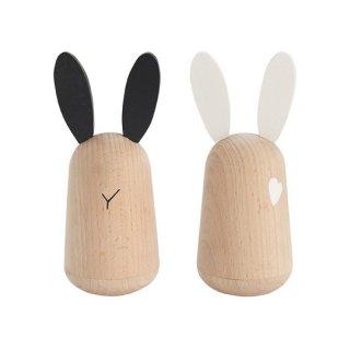 kiko+ [キコ] / usagi [ウサギ] 起き上がりこぼし 木のおもちゃ 木製玩具 日本製 ギフト 2個セット
