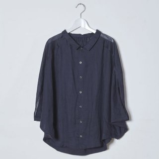 【40%OFF!】Kitica [キチカ] / linen flat collar シャツ / navy