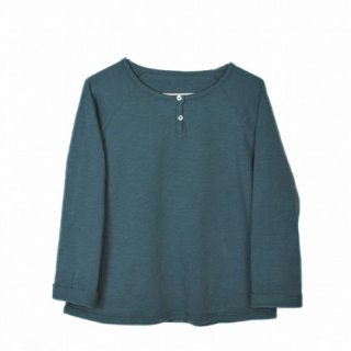 【40%OFF!】LE PETIT GERMAIN / FLOO Tee shirt / Smocked Green / Green