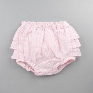 mimi poupons [ミミプポン] / フリルパンツ / ピンクストライプ