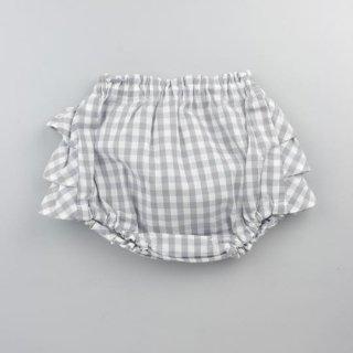 mimi poupons [ミミプポン] / フリルパンツ / アッシュギンガム
