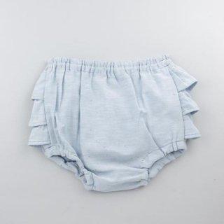 mimi poupons [ミミプポン] / フリルパンツ / ネップダンガリーレインボー