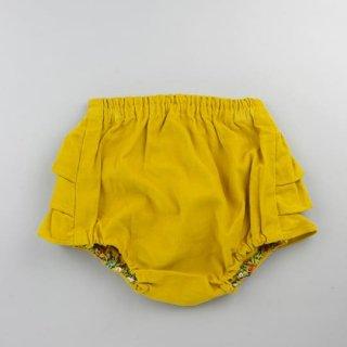 mimi poupons [ミミプポン] / フリルパンツ / コーデュロイマスタード