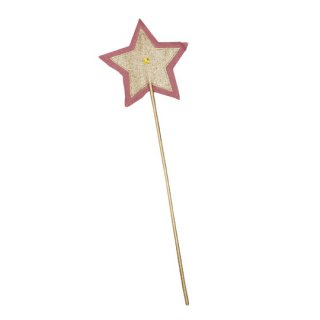 Numero74 [ ヌメロ74 ] Glitter Star Wand - Baobab Rose/Gold インポート 45cm