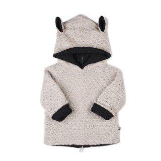 Oeuf NYC [ウフ] / Animal Hoodie-Sheep ニットパーカー シープ ベビーアルパカ 100%