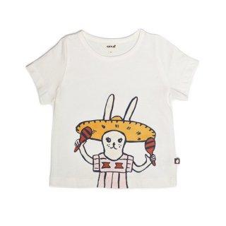 【40%OFF!】Oeuf NYC [ウフ] / TEE SHIRT-WHITE/SOMBRERO BUNNY Tシャツ