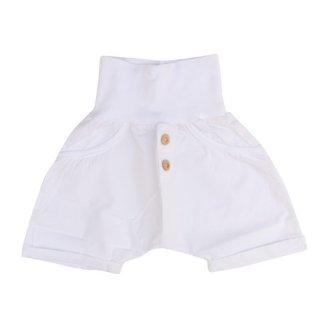 【40%OFF!】+ in the family [ワンモアインザファミリー] / KIKE garment dyed plain poplin bermuda pants / white