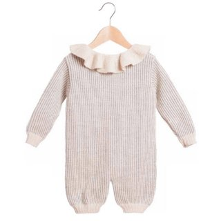 【40%OFF!】2017AW  Waddler [ワドラー] / wren romper / Light Grey & White