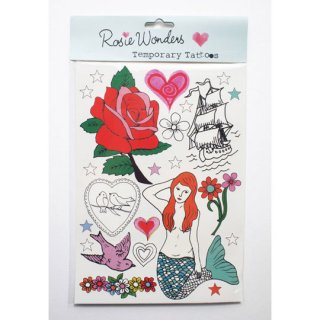 【30%OFF!】Rosie Wonders temporary tattoos / Mermaid