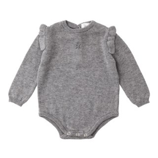 【40%OFF!】tocoto vintage [トコトヴィンテージ] /W04417. TRICOT BODY / GREY ニットロンパース