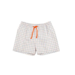 【20%OFF!】tinycottons [タイニーコットンズ] grid trunks/stone/cerulean blue/ SS18-311