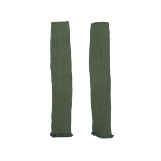 MINGO. [ミンゴ] Legwarmer / Duck green / cotton/polyamide/elestan