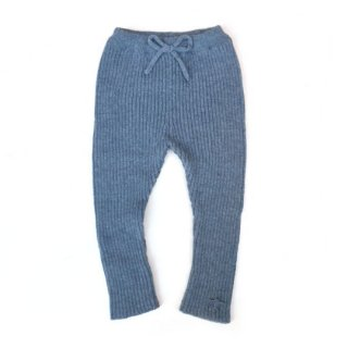 tocoto vintage [トコトヴィンテージ] W11418. KNITTED RIBBED LEGGINS / 003. BLUE