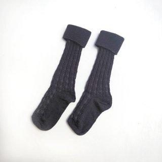 【30%OFF!】 mp Denmark[エムピーデンマーク] / Superwash wool Rib Socks / Navy