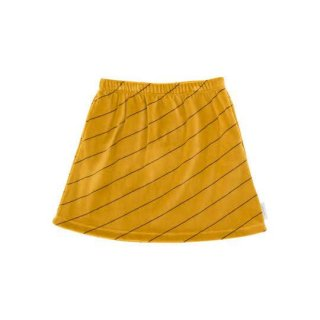 tinycottons [タイニーコットンズ] / diagonal stripes plush skirt / mustard/plum