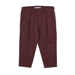 tinycottons [タイニーコットンズ] / diagonal stripes pleated pant / plum/brick