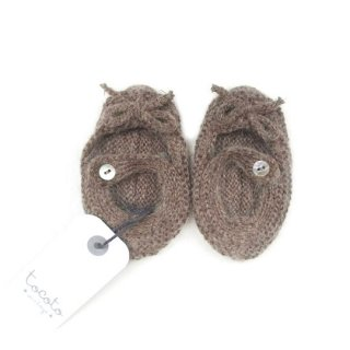 tocoto vintage [トコトヴィンテージ] / W70418. KNITTED BABY SHOES / 006. BROWN