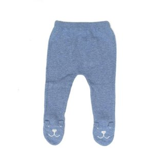 tocoto vintage [トコトヴィンテージ] / W12618. KNITTED BEAR LEGGINS / 003. BLUE