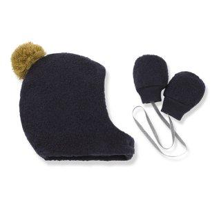 1+ in the family [ワンモアインザファミリー] / LINUS bonnet & mittens / blue