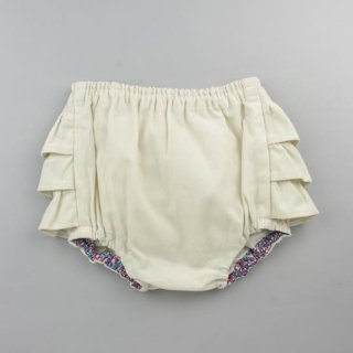 mimi poupons [ミミプポン] / フリルパンツ / コーデュロイ WHITE