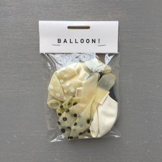 Balloon BK × WH Mix / 10pcs