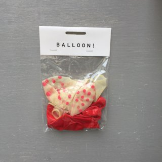Balloon BK × Red Mix / 10pcs