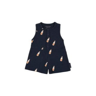 TINYCOTTONS / 'SODA BOTTLE' ROMPER / navy/brown