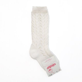 【再入荷】condor / Openwork HighSocks / 303 / Beige (Off-White)
