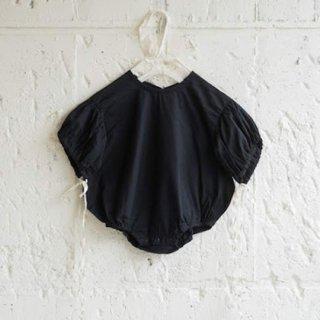 UNIONINI / organic ribbon rompers / black