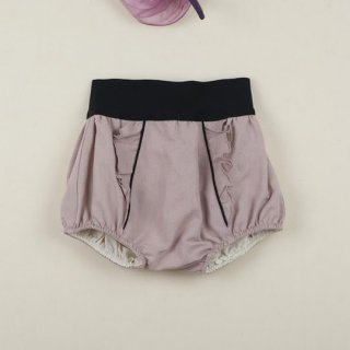 Popelin / High-wait culotte / Dusty pink