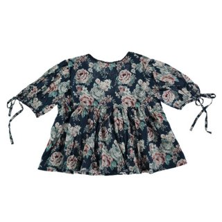 【40%OFF!】tocoto vintage / Flowers blouse with low neclike back / FLOWERS