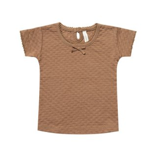 Quincy Mae / Pointelle Tee / Copper