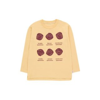 【40%OFF!】TINYCOTTONS / SHELLS LS TEE / sand/aubergine