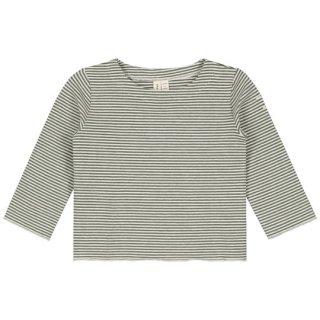 Gray Label / Long Sleeve Tee / Moss x Cream Stripe