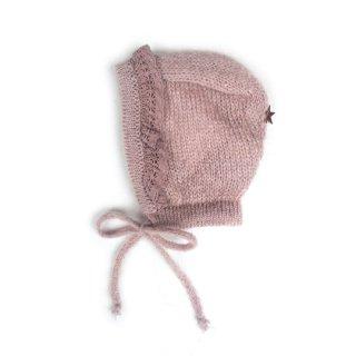 【30%OFF!】tocoto vintage / Knit bonnet with lace / 004. PINK