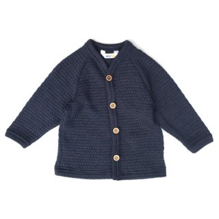 Joha / Bubble Knitting Cardigan / navy