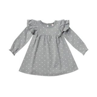 Quincy Mae / Longsleeve Flutter Dress / dusty blue