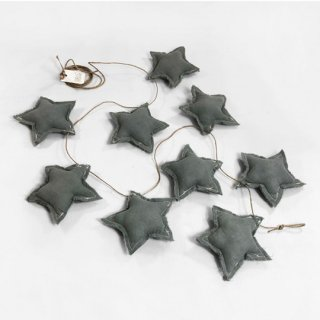 Baby showers / STARS BANDEROLE  / GREY POWDER