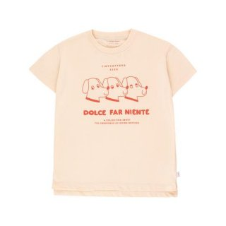 "TINYCOTTONS / ""DFN DOGS"" TEE / light cream/red / Kids"