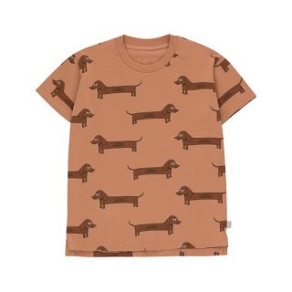 "TINYCOTTONS / ""IL BASSOTTO"" TEE / tan/dark brown / Kids"